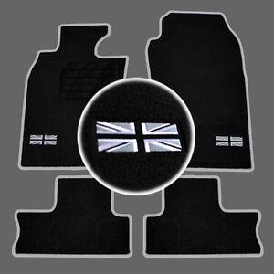 4-TAPIS-SOL-MINI-2001-2006-R50-R53-MOQUETTE-LOGO-FLAG-UK-CONTOUR-SPECIFIQUE
