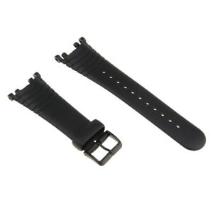 Black-Silicone-Watch-Strap-Band-Replace-for-SUUNTO-VECTOR-with-Tools-Set