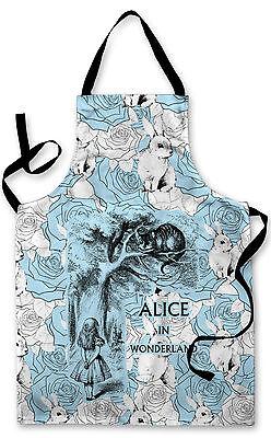 Splashproof Novelty Apron Alice in Wonderland Six Impossible Things Cards Bake
