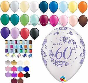 Image Is Loading Hy 60th Birthday Diamond Wedding Anniversary Helium Balloons