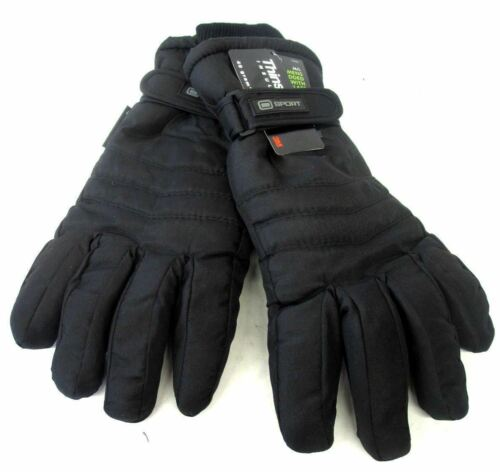 MENS PADDED 40G THINSULATE GLOVES WITH LINING BLACK GL123