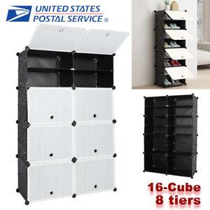 16-Cube-DIY-Modular-Closet-Wardrobe-Clothes-Shoes-Shelves-Storage-Organizer-Rack