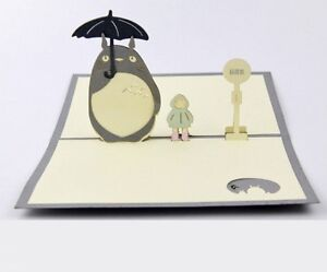 Image Is Loading 3D My Neighbour Totoro Japanese Greeting Cards Pop