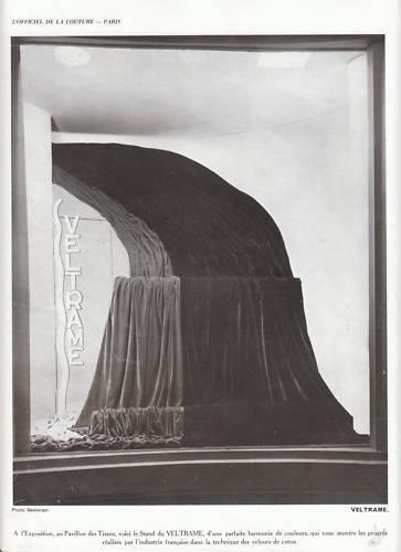 Publicité ancienne mode tissu Veltrame 1937 issue de magazine