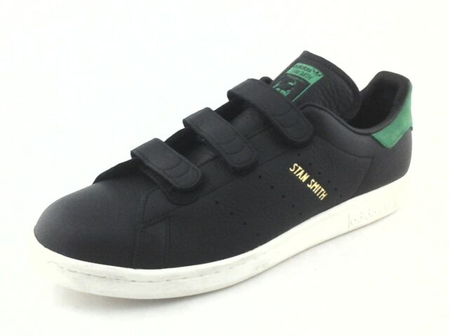 on sale 8c73f da182 ADIDAS Stan Smith CF Black w Green Leather Shoes BZ0533 Mens US 11.5 /46 New