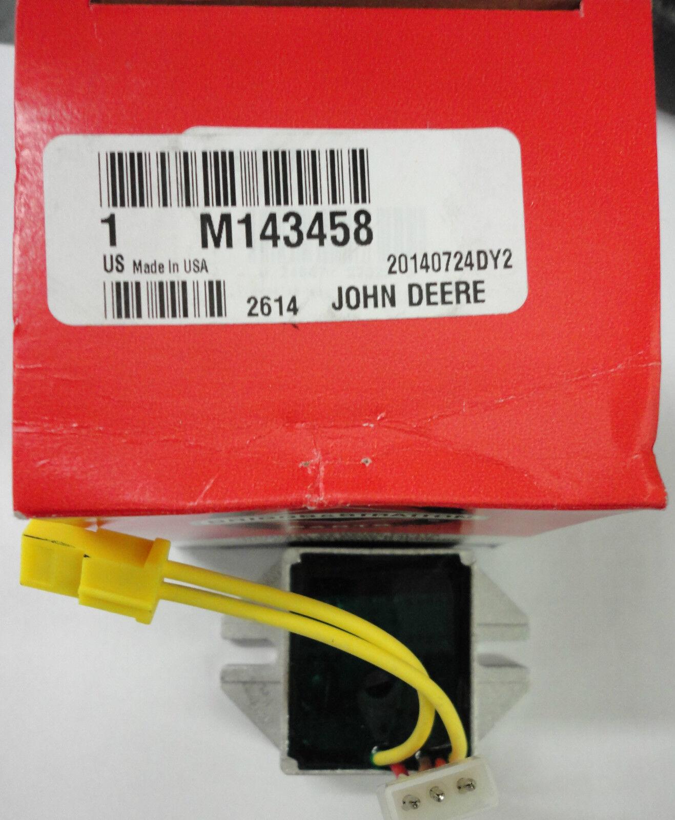 JOHN DEERE Voltage Regulator M143458 for GT235 LX288 SST18 w// Briggs /& Stratton