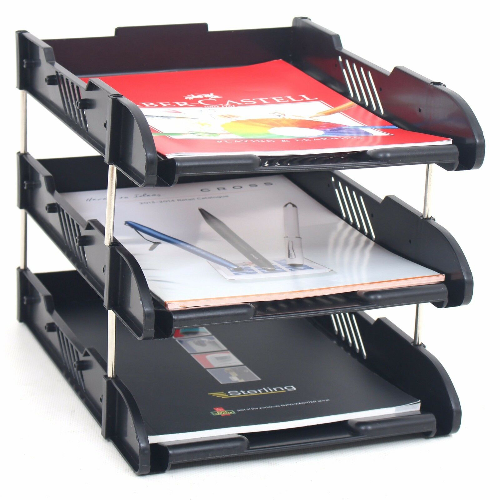 desk paper organizer office filing trays a4 document desk riser letter paper 14687