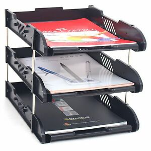 Image Is Loading Office Filing Trays Letter Rack Desk Organiser Paper