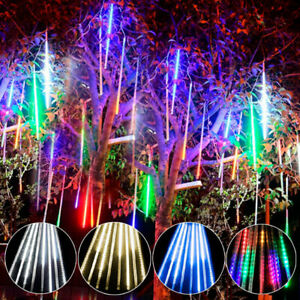 30cm-96-LED-Landscape-Lights-String-Meteor-Shower-Rain-8-Tube-Xmas-Tree-Outdoor