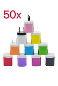 50x Color 1A USB Wall Charger Plug Home Power Adapter FOR iPhone X 7 Samsung LG