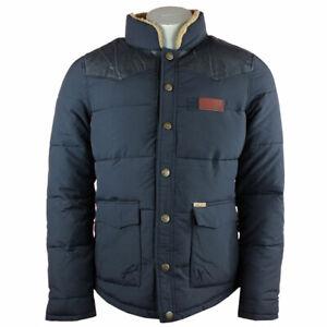 Details zu Khujo Plengh Fake Leather Mix Jacke Herren Winterjacke