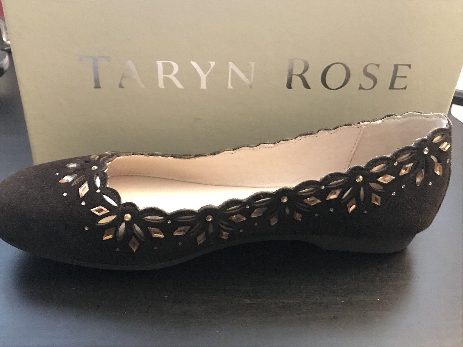 Taryn Rose Binney Suede Flat MSRP 249 Größe 6