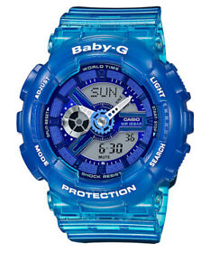 NEW-Casio-BA110JM-2A-Baby-G-Blue-Watch