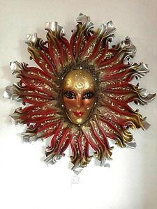 Sole Reale - Maschera veneziana artigianale in cartapesta e cuoio