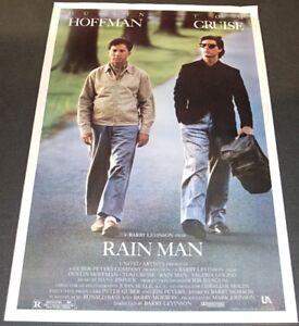 Rain Man 1988 Orig 27x41 Movie Poster Tom Cruise Dustin Hoffman Oscar Winner Ebay