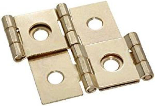 Brass plated Double acting folding screen hinges Set of two
