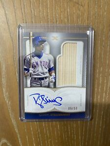 2021 Topps Definitive Baseball Darryl Strawberry Bat Relic On Card Auto 5/50
