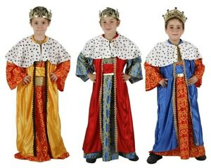 ATOSA Costume Re Magio presepe carnevale bambino Gaspare Baldassarre Melchiorre