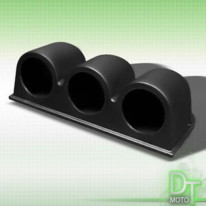 Triple-Gauge-Holder-52Mm-2-034-Heavy-Duty-Bezel-Pillar-Meter-Dash-Mount-Pod-3-Holes