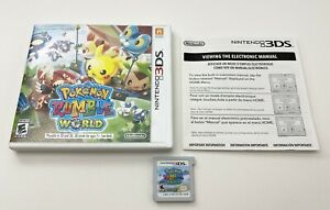 Pokemon-Rumble-World-Nintendo-3DS-XL-2DS-Game-w-Case-amp-Insert-Works-FREE-SHIP