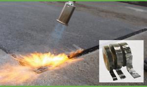 Overbanding cinta asfalto para hojas 30, 40 o 50mm de ancho Tarmac overband, Antorcha En