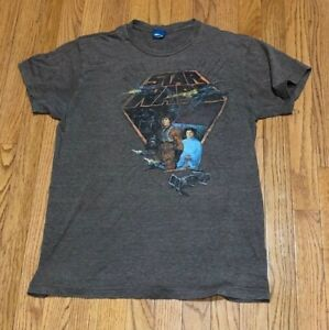 dce19fcc Vintage Star Wars T-Shirt Brown Luke Skywalker Darth Vader Princess ...