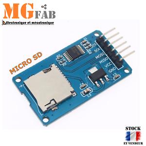 100% De Qualité Module Adaptateur Spi Lecteur Micro Sd Tf | Arduino Card Read Write Datalogger Design Professionnel