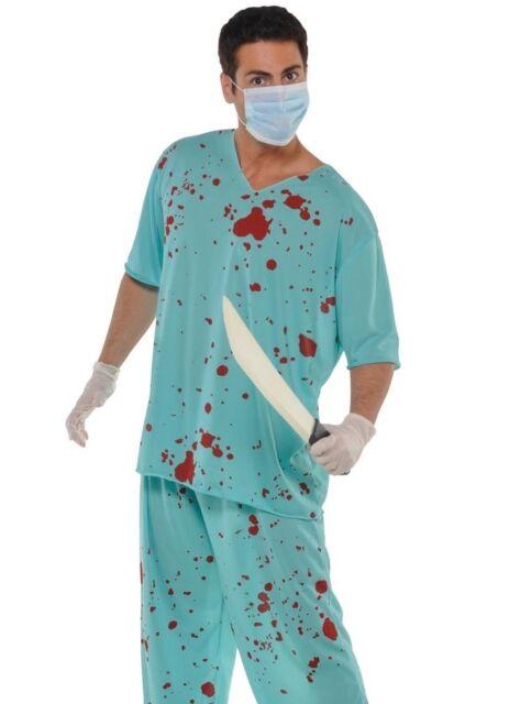 Adult Unisex Zombie Bloody Doctor Surgeon Fancy Dress Halloween Costume  {ar}