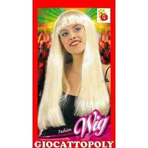 Donna Ricci lungo Parrucca Bionda Costume 1980/'s Accessorio