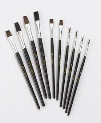quality Artist Paint Brush Set pack10 Natural Bristle Art paintings made harris