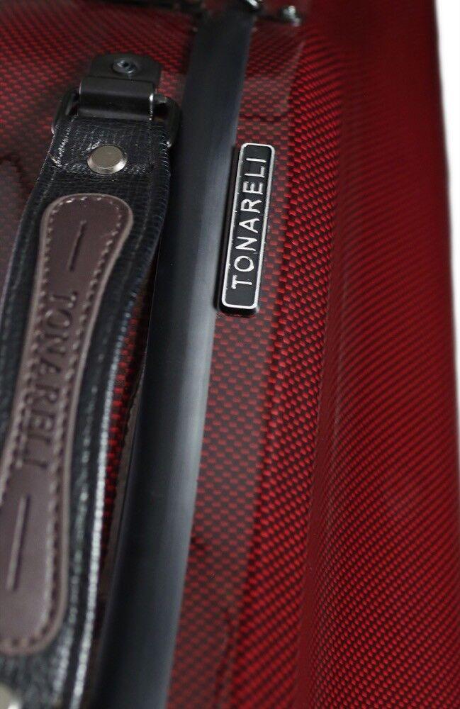 Brand New Original Tonareli Red Graphite Fiberglass purple Case FREE Music Bag