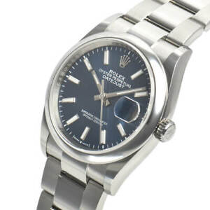 Rolex-Datejust-126200-Steel-Domed-Bezel-36mm-Blue-Index-Oyster-Bracelet-Auto