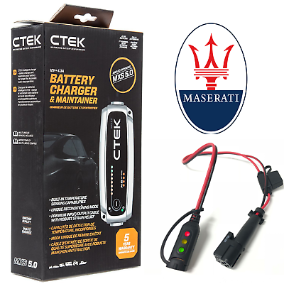 Analitico Maserati Quattroporte (2004 & Newer) Battery Charger 4.3a - 7a & Custom Adapter