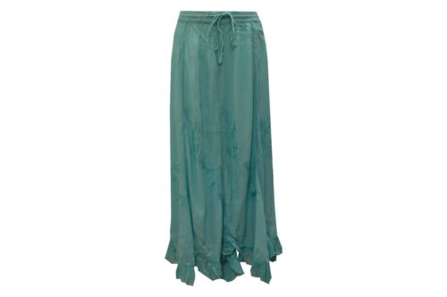 PLUS SIZE BOHEMIAN HIPPIE EMBROIDERED FRILLED GYPSY SKIRT SIZE 12 to 22