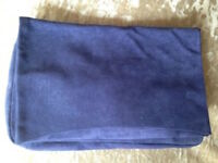 Pieces Twilight Blue Flap Over Suede Clutch Bag