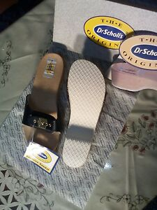 Dr-Scholl-039-s-ORIGINAL-Excercise-Wooden-039-Pescura-Heel-039-Slides-Shoes
