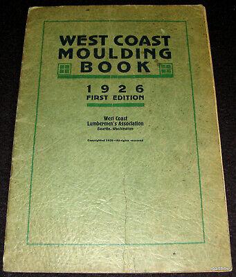 Seattle Cheap Sales Wood Patterns Steady West Coast Moulding Book 1926 Lumbermen's Association