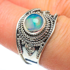 Ethiopian Opal 925 Sterling Silver Ring Size 8 Ana Co Jewelry R46837F