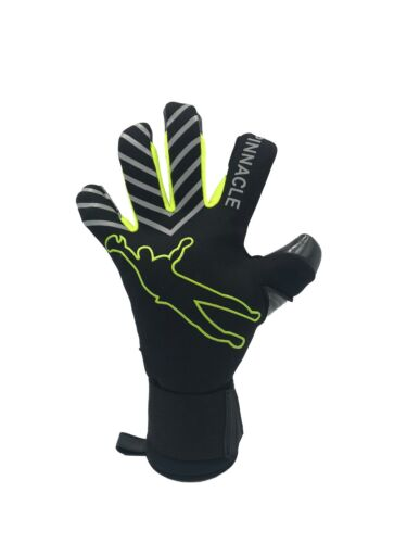 Pinnacle ELITE Hybrid Negative cut Contact Latex Goalkeeper Glove Black Size 9
