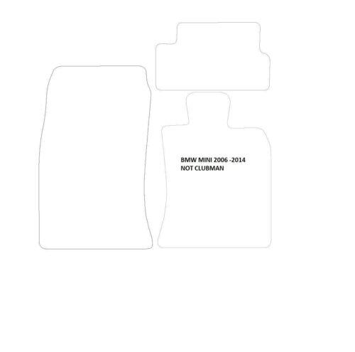 4 Almohadillas B Ribete Plateado Mini Primero Uno//Cooper//Cooper//S 06-14 negro alfombrillas de coche