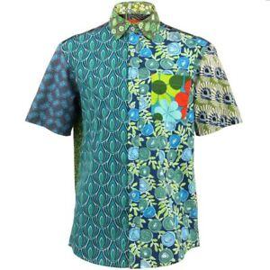 Mens-Loud-Shirt-Retro-Psychedelic-Funky-Party-REGULAR-Green-Mixed-Random