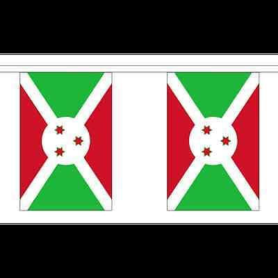 Polyester 3m 6m 9m Metre Length 10 20 30 Flags Rwanda Flag Bunting