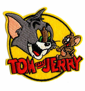 TOM-AND-JERRY-Iron-on-Sew-on-Patch-Embroidered-Badge-Cartoon-TV-PT55