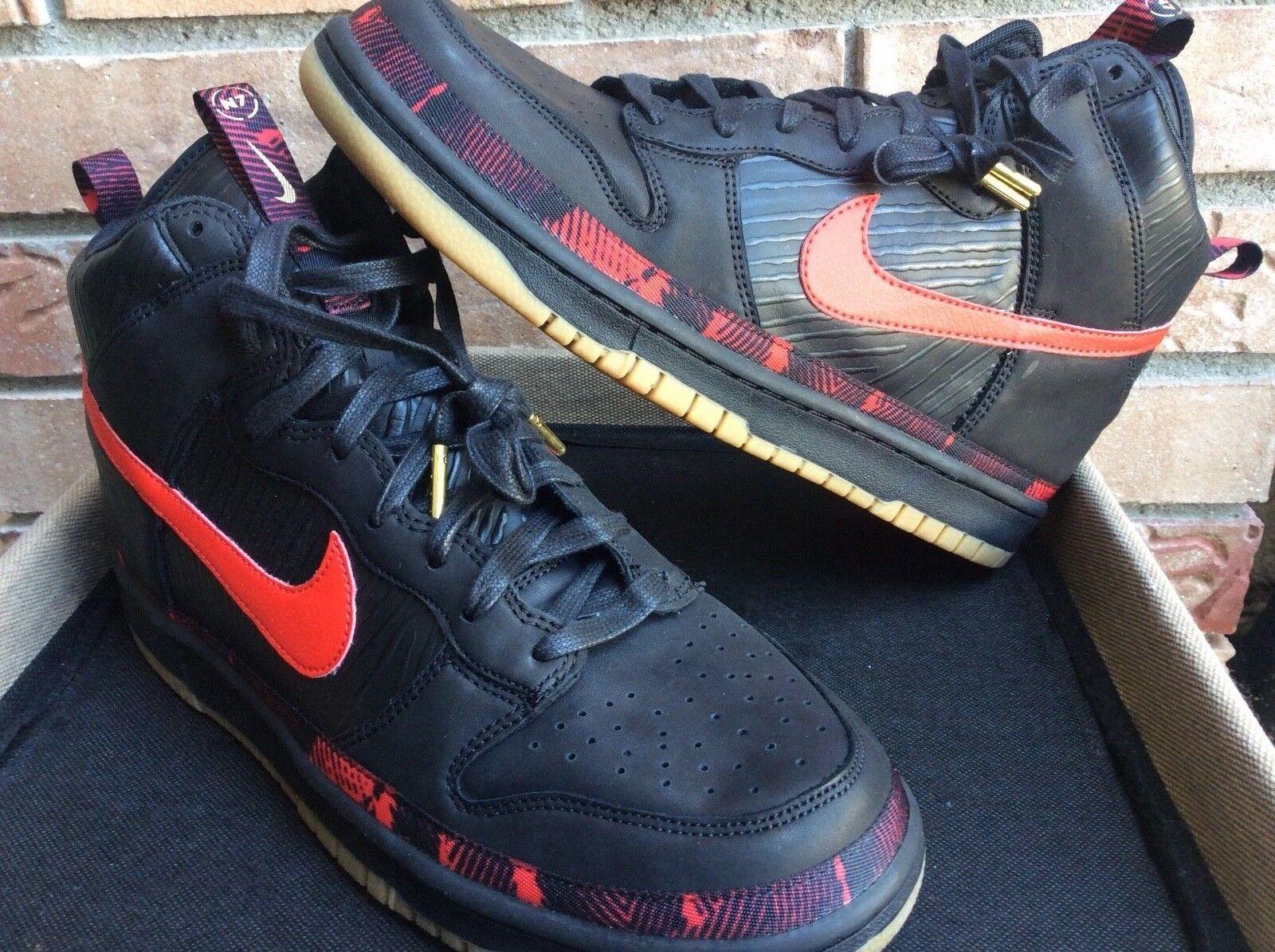Nike Dunk High Premium N7 size 11 black red AA1126-001