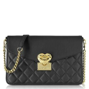 cross body shoulder bag love moschino black jc4002 tasche ebay. Black Bedroom Furniture Sets. Home Design Ideas