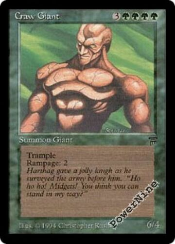 Green Legends Mtg Magic Uncommon 1x x1 1 PLAYED Craw Giant