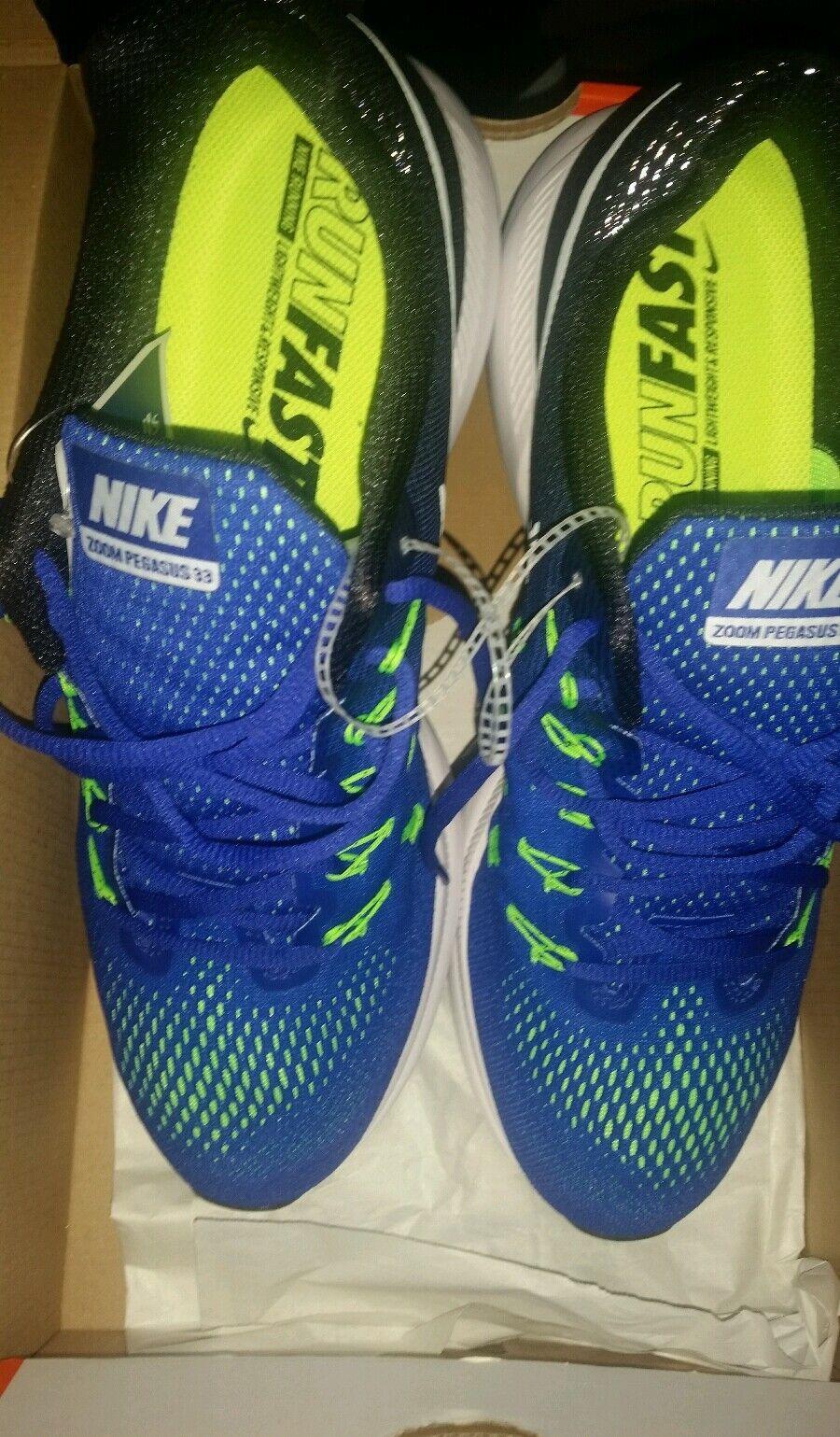 Nike Air Zoom Pegasus 33 Running Athletic shoes Sneaker Cross-Trainer bluee Black