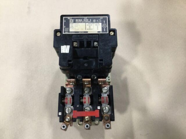 Square D 8536 Sc01 Motor Starter Nema Size 1 120v Coil