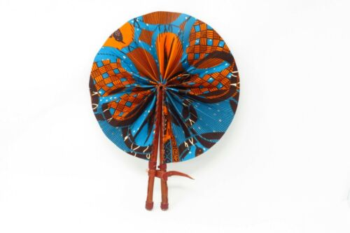Assorted Styles, West African Ankara Cloth and Leather Fans