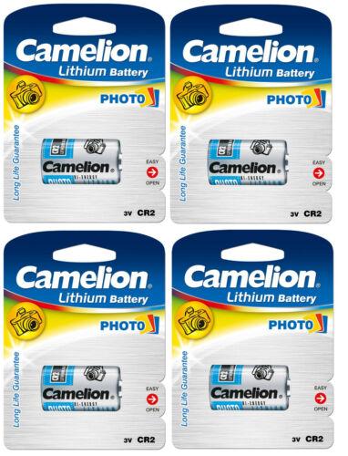 4 Stück Camelion CR2 Photo Spezial Batterie Foto Kamera Lithium Battery DL CR2
